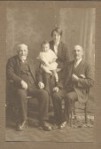 Four Generations of the Fenn family in Pymoor.. My great great grandfather David and his son John. John's..
