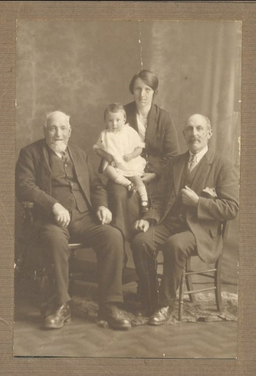 Four Generations of the Fenn family in Pymoor.Circa 1920