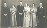 The Wedding of Horace and Joan Saberton in Pymoor.. Wedding Party, Pymoor.