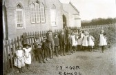 Group of children at Pymoor School. Pymoor School 1865