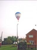 Hot air balloon flying over Pymoor 2005