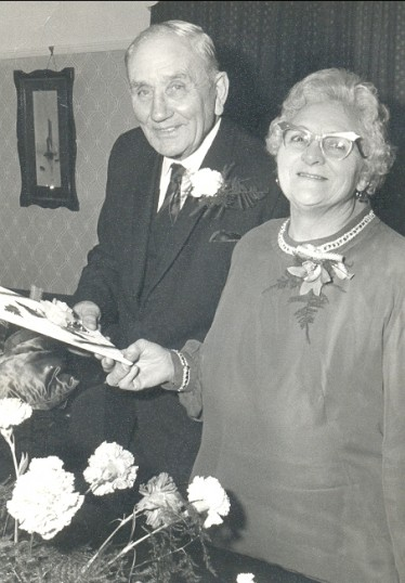 Jack and Caroline Taylor's Diamond Wedding, Pymoor, 1983.