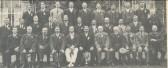 Pymoor Sports Committee outside Mr George Darby's home in Pymoor Lane, Pymoor 1922.