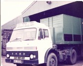 Tony Taylor, local haulier's first lorry in Pymoor.