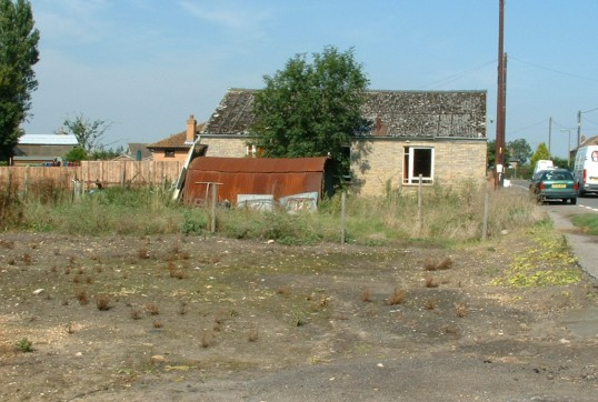 Building land, south of the old WI Hall in Main Street, Pymoor, 2005.