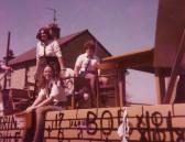 Pymoor Carnival Float in Main Street, Pymoor.1982