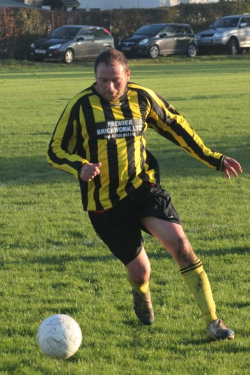 Tony Ure, now plays for Little Downham Swifts, who play their home matches at the Pymoor Cricket Club field, Pymoor Lane, Pymoor, 2010.