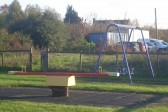 There is a children's play area in the grounds of the Pymoor Cricket and Social Club, Pymoor Lane, Pymoor, 2008.