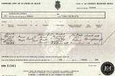 Death Certificate of Maria Heaps of Oxlode, Pymoor.