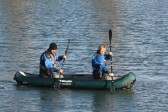 The Cambridge Search & Resue Unit on a training exercise on Oxlode Farm, Pymoor. Canoe training.