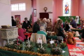 Many people came to the Pymoor Methodist Chapel Christmas Bazaar 2010.