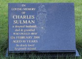Memorial Stone at Coveney Methodist Chapel  for Charles Sulman who lived in Pymoor.