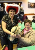 Cynthia Parson won the 'Name the Teddy' Competition at the Pymoor Cricket & Social Club Christmas Bazaar, 2010.
