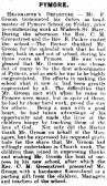 Article in the Ely Standard about Mr F Groom terminating his duties as headmaster of Pymoor School.