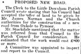 Article in the Ely Standard about the proposed constuction of a new road from Oxlode to Pymoor. Adventurers Drove)