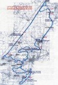 Map showing the positions of the Pumping Stations at Oxlode/Pymoor & 100 Foot Bank.