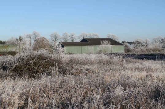 Pymoor in the grip of the coldest December for decades. The temperature barely rose above freezing for the whole month.