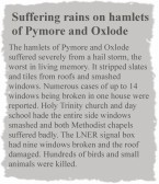 The Hamlets of Pymoor & Oxlode suffered severely from a hail storm 1935. (Extract from the Cambridgeshire News)
