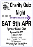 Gary Palmer & the Dabbers Trials Club held a Charity Quiz  in aid of Cancer Research UK at Pymoor Social Club  Pymoor. £380 was raised on the night 2011.