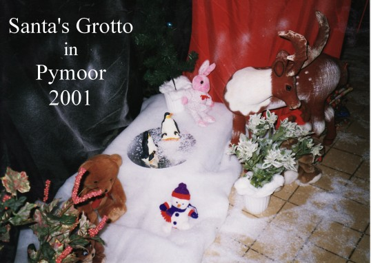 Santa's Grotto at the Pymoor Cricket Club, Pymoor Lane, Pymoor 2011.