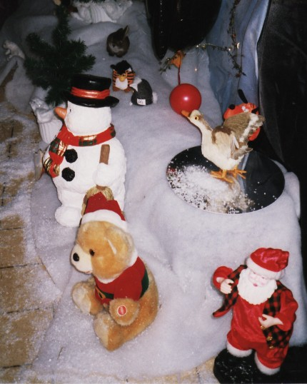 Santa's Grotto at the Pymoor Cricket Club, Pymoor Lane, Pymoor 2011.