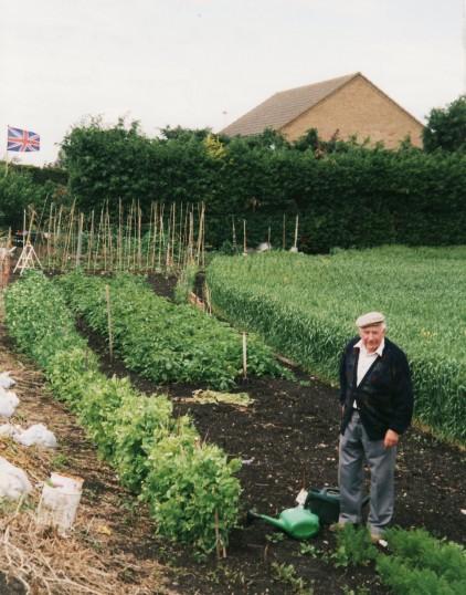Ron Saberton at the time of Queen Elizabeth II's Golden Jubilee Celebrations in Pymoor.