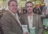 Photograph from the Cambridge News of Ross Taylor & Rod Garnham, Proprietors of Corkers Crisps of Pymoor. 2011