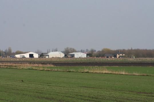 Laurel Farm seen from the eastern end of Pymoor Lane, Pymoor.