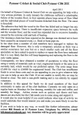 An appeal in the Parish Magazine by the Pymoor Cricket & Social Club, Pymoor Lane, Pymoor, for help with funds to replace the Club floor.