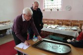 Alan Butcher tries his luck on the bagatelle at the Coveney & Pymoor Methodist Chapels' Spring Fayre held at the Pymoor Chapel in Main Street, Pymoor 2011.