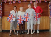 Cynthia Parson, Joan Saberton & Rosemary & Roger Davis helped decorate the Pymoor Social Club, Pymoor for the Royal Wedding Celebrations 2011.