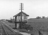 Furlong Drove Signal Box, Pymoor, circa 1968.