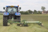 Cutting Graham Lark's field, off Pymoor Lane, in preparation for the Pymoor Show 2011.