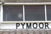 Pymoor Cricket Club window received a direct hit during the Kirkland Cup Match with Little Downham 2011.