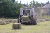 Getting ready for the Pymoor Show. Baling hay on Graham Lark's field off Pymoor Lane, Pymoor.