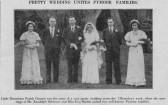 Wedding of Randolph Saberton & Miss Eva Martin, both of Pymoor.