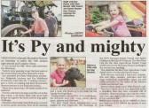 Article in the Ely Standard about the very sucessful Pymoor Agricultural & Country Show held on the 2nd July 2011.
