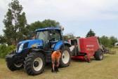 Baling hay in Graham Lark's field off Pymoor lane, Pymoor, 2011.