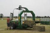 Wrapping hay bales in Graham Lark's field off Pymoor lane, Pymoor, 2011.