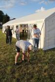 Putting up the Pymoor Social Club tent in Graham Lark's field, off Pymoor Lane, in readiness for the Pymoor Show 2011
