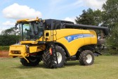 Large combine harvesters begin to arrive for the Pymoor Show 2011
