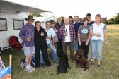 Relaxing on the evening prior to the Pymoor Show 2011