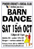 Pymoor Cricket & Social Club held a Barn Dance on Sat 15th October 2011