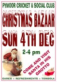 Pymoor Cricket & Social Club are holding their Christmas Bazaar on 4th December 2011. All Welcome. See Poster for details.