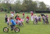 The 'Slow Bike Race' at the Royal Wedding Fun Day in Pymoor 2011.
