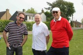 Steve Knowles, John Heaps & Roger Davis at the Royal Wedding Fun Day in Pymoor.