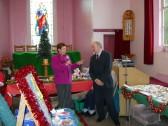 BBC's Radio Cambridgeshire's Jane Smith opened the Pymoor & Coveney Methodist Chapels's Christmas Bazaar 2011, held in Pymoor.