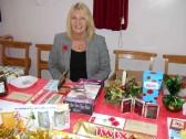 Pat Golding at the Pymoor & Coveney Methodist Chapels's Christmas Bazaar, held in the Chapel in Main Street, Pymoor 2011.