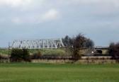 Iron Railway Bridge over the Hundred Foot River seen from Straight Furlong, Pymoor.