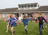 An Egg & Spoon Race at the Royal Wedding Fun Day in Pymoor 2011.